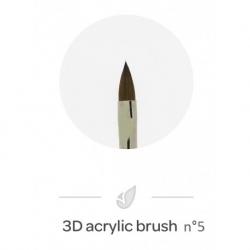 Pinceau Acrylique 3D n°5