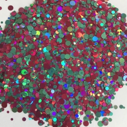 Glitters Paillettes Confetti Turquoise/rose