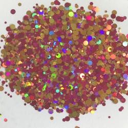 Glitters Paillettes Confetti Rose/Or