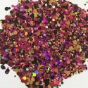 Glitters Paillettes Confetti Rose/Or/Noir