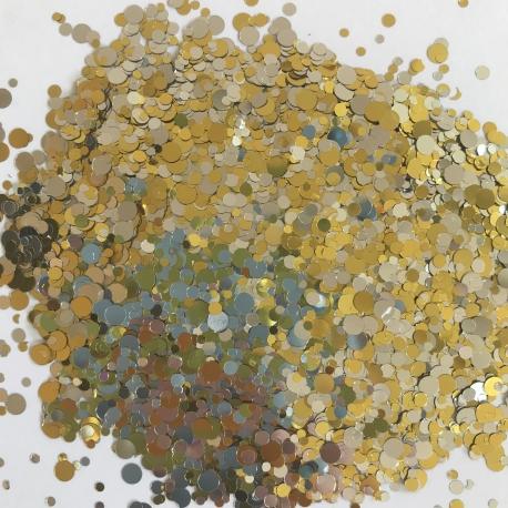 Glitters Paillettes Confetti Or/Argent