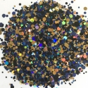 Glitters Paillettes Confetti Bleu/Or