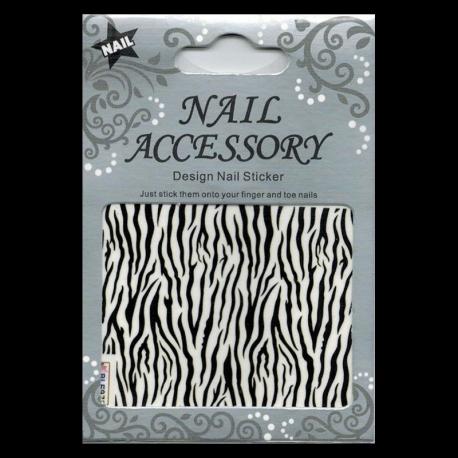 Decalcomanie Nail Art Zebre