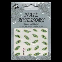 Decalcomanie Nail Art Plume Ble1686