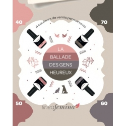 """Kit Vernis Permanent 4Pcs """"La ballade des gens heureux"""""""