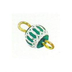 Piercing DOngle Aluminium Vert Fonce 1Pc/Sachet