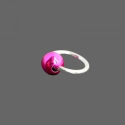 Piercing Anneau Argent Boule Rose
