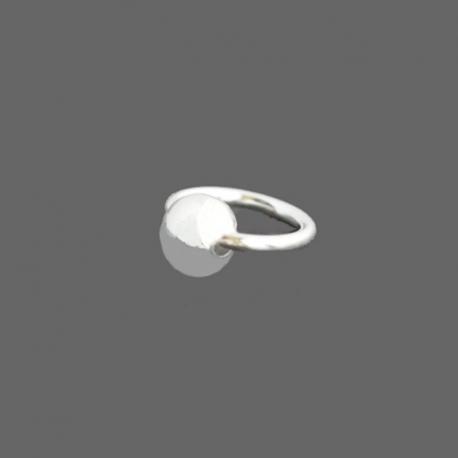 Mini Piercing Argent Boule Argent Petit