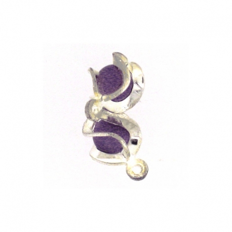 Piercing Boule Speciale Argent/Mauve 2Pcs/Sachet