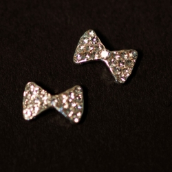 Noeud Argent Strass 1Cm/6Mm