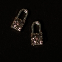 Small Cadenas Argent Strass Clear 2 Pieces