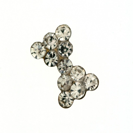 Nail Art Noeud Strass Clear 1Cm