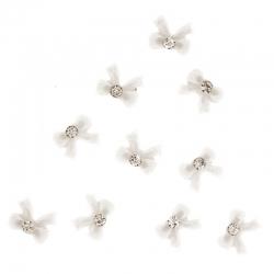Noeud Blanc Cocarde 10 Pieces